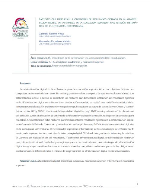 Factores que dificultan la obtención de resultados óptimos en la alfabetización digital en enfermería en la educación superior: una revisión sistemática de la literatura especializada