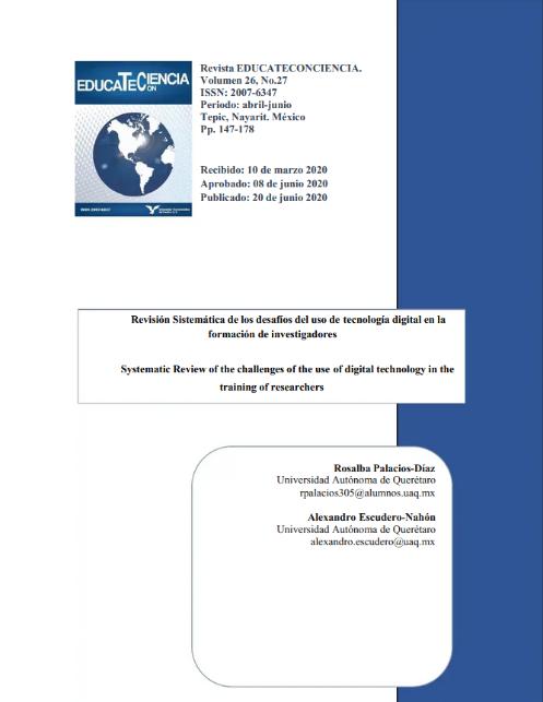 Revisión sistemática de los desafíos del uso de tecnología digital en la formación de investigadores