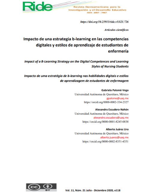 Impact of a b-learning Strategy on the Digital Competences and Learning Styles of Nursing Students