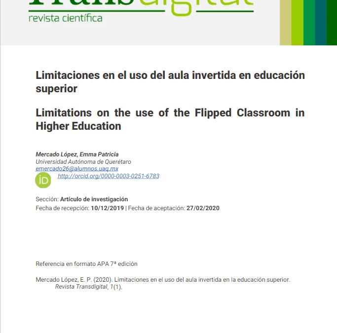 Limitaciones en el uso del aula invertida en educación superior